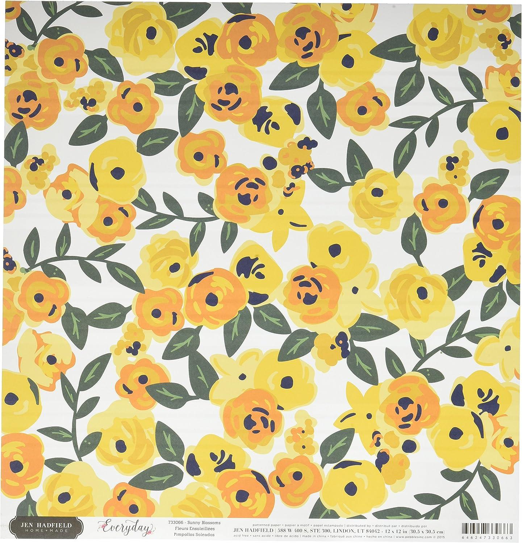 American Crafts Sunny Blossom-Everyday DS Papier 12 Zoll, Acryl, Mehrfarbig B01C9UWPBA     Lebhaft