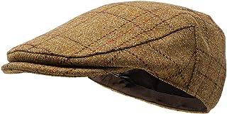 Borges & Scott Gorra Plana Woodsman - Totalmente Impermeable - Yorkshire Tweed – Exterior Lana 100%