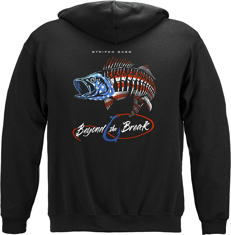 Fishing お得なキャンペーンを実施中 Patriotic Striped Bass 売れ筋 BTB2477 T-Shirt