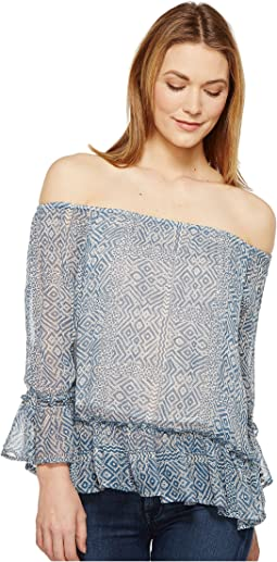 Lucky Brand Maze Off the Shoulder Top