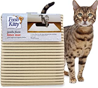 Fresh Kitty Durable XL Jumbo Foam Litter Mat – BPA and Phthalate Free, Water Resistant, Traps Litter from Box, Scatter Con...