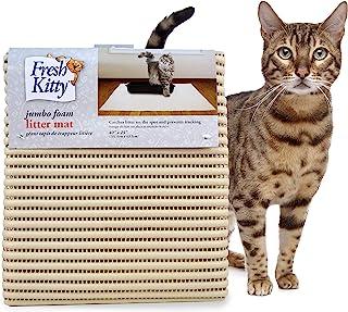 Fresh Kitty Soft Jumbo Foam Easy Clean Litter Trapping Mat for Pet Cat Litter Box