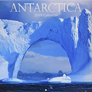 2019 Wall Calendar - Antarctica Calendar, 12 x 12 Inch Monthly View, 16-Month, Travel and Destination Theme, Includes 180 Reminder Stickers
