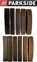 Juego de 11 piezas Premium lija 50 x 686 mm, grano 60 – 120 para lijadora Parkside Stand psbs-30 240 B2 también válido para psbs-30 240 A1, banda abrasiva/lija grano 60/80/120