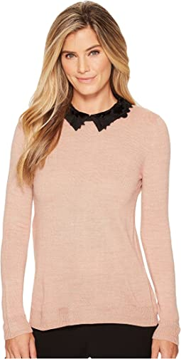 Ivanka Trump - Velvet Collar Sweater