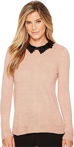 Ivanka Trump - Velvet Collar Sweater