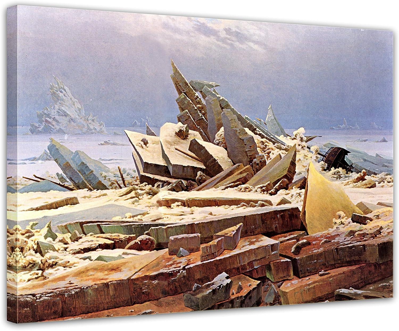 Keilrahmenbild Caspar David Friedrich - Das Eismeer Eismeer Eismeer 120x90cm Groß - Leinwandbild Alte Meister Gemälde Bild auf Leinwand B0112HIFYM ccfabb