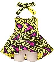 Ankara Baby Girls Toddler Dress with Head Wrap, African Clothing, African Girl Dress, Ankara Dresses, African Print Dress