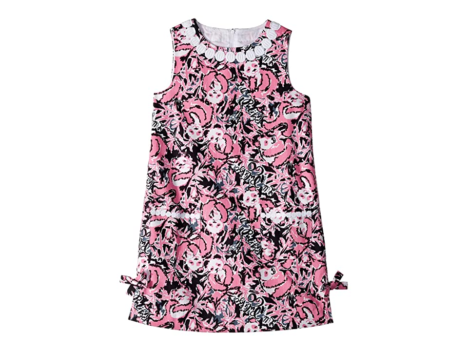 Lilly Pulitzer Kids Little Lilly Classic Dress (Toddler/Little Kids/Big Kids) (Hibiscus Pink Hangin with My Boo) Girl