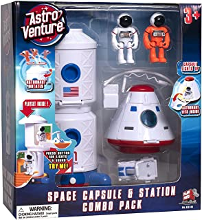 Astro Venture Space Playset - Toy Space Station & Space Capsule with Lights and Sound & 2 Astronaut Figurine Toys for Boys...