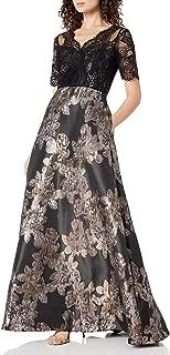 Women's Metallic Jacquard Gown
