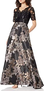 Women's Metallic Jacquard Gown