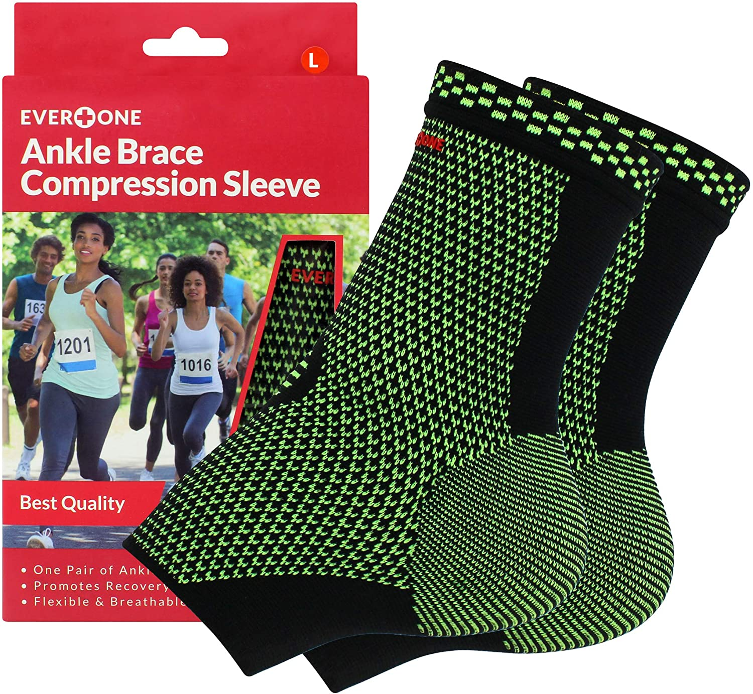 EverOne Selling rankings Ankle Brace Compression Support Sleeve For Preven Fixed price for sale Injury