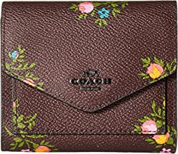 COACH - Small Wallet in Cross Stitch Floral Print