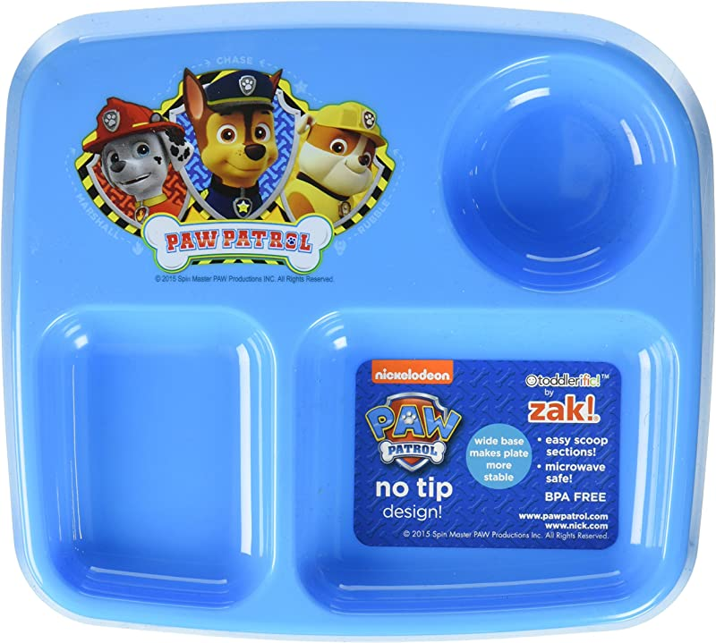 Zak Designs Toddlerific 7 Inch Divided Plate Paw Patrol
