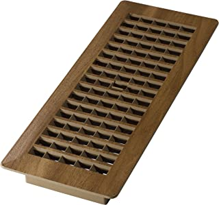Decor Grates PL412-MTG 4-Inch by 12-Inch (Duct opening measurements) Plastic Floor Register, Tan Mahogany