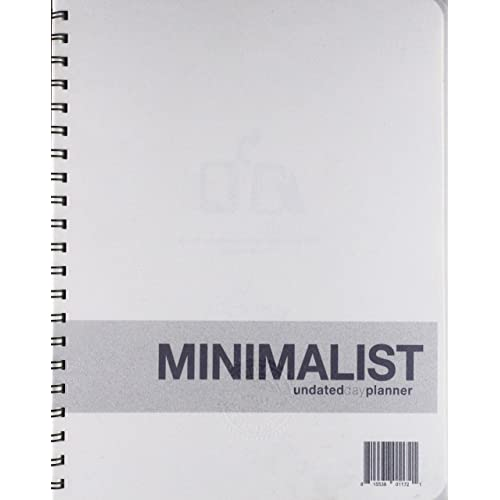 Undated Minimalist Day Planner - A planner without all the bells and whistles - Functional tool to manage your time