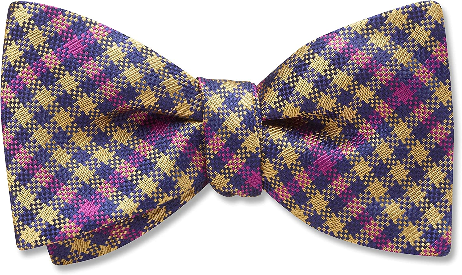 Loch Turret Yellow/Gold,Blue Plaid, Men's Bow Tie, Handmade in the USA