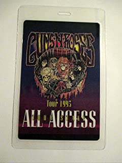 1993 Guns N Roses Use Your Illusions Tour Staff Laminated Backstage Pass All Access