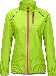 Women's Waterproof Cycling Bike Jacket, Running Rain Jacket, Windbreaker, Ultralight and Packable