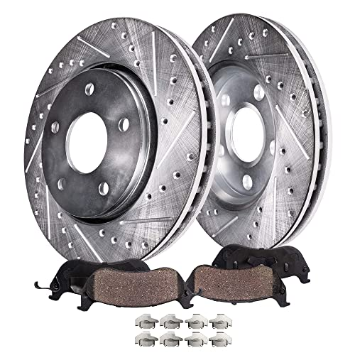 Front Brake Rotors and Ceramic Pads For 2007 2008 FORD EDGE LINCOLN MKX 2WD
