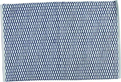 Split P Small Woven Rug, 3003-025, Blue, 2' x 3'