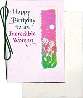 """Blue Mountain Arts Greeting Card """"Happy Birthday To An Incredible Woman"""" Is A Sweet and Inspiring Way to Send Warm Birthda..."""