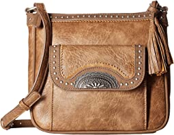American West Guns and Roses Crossbody w/ Secret Compartment
