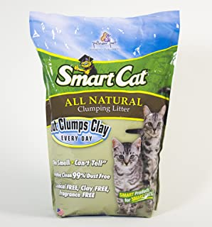 Pioneer SmartCat ALL NATURAL Clumping Cat Litter 10 lb. Bag. Multi Cat Litter Formula. Made From 100% Farmed Grass, Biodegradable, Out Clumps Clay Litter Every Time!! Soft on Paws, Fast Delivery!!!