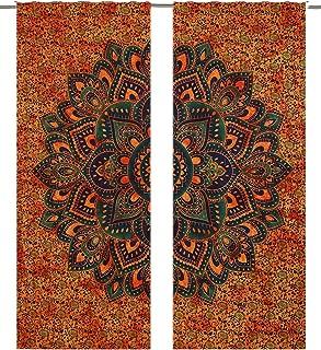 Tapestry Door Curtain Window Curtains Bohemian Drape Balcony Room Decor Curtain Set Window Cover Decorative Elegant Curtains Dorm Art Decor Hippie Medallion Morroca Indie Mandala Tapestry Curtain Wall