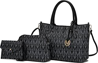 MKF 3-teiliges Set, Umhängetasche für Damen, Handtasche, Handtasche, Umschlag, verstellbarer Schultergurt, PU-Leder
