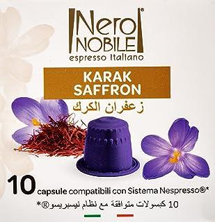 Neronobile Karak Saffron Nespresso Compatible Capsules Pack of 10, NCAPKS