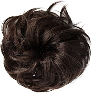 PRETTYSHOP Scrunchie Bun Up Do Hair piece Hair Ribbon Ponytail Extensions Wavy Curly or Messy Various Colors(brown 8B)