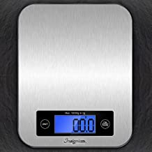 Digital Kitchen Scale Food Scales, 10kg Multifunction Stainless Steel Accuracy with Blue LCD Display and Tare Function for Baking and Cooking