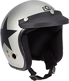 Habsolite Ecco Star Front Open Helmet (Grey and Black, M)