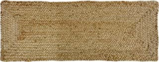 Cotton Craft - 100% Jute- Reversible Jute Braided Table Runner - Natural - 13 x 36 Inch - Hand Woven Rectangular Plain - Spot Clean Only.
