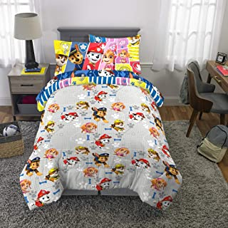 Franco Kids Bedding Super Soft Comforter and Sheet Set with Bonus Sham, 5 Piece Twin Size, Paw Patrol