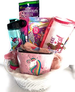 YB Premade Kids Toddlers Unicorn Stuff Birthday Gifts Box for Girls Easter Basket Christmas Stocking Stuffers Gift Baskets Get Well Soon Gifts on Any Occasions