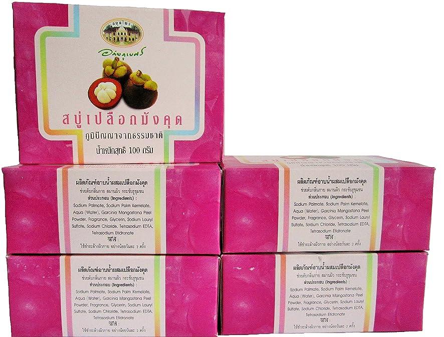 パラダイスジャンル痛いマンゴスチン石鹸 5個セット 【タイ産】