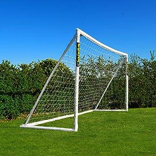 FORZA Fußballtor mit einem Klicksystem – das Fußball-Tor kann das ganze Jahr über bei jedem Wetter draußen Lassen Stehen