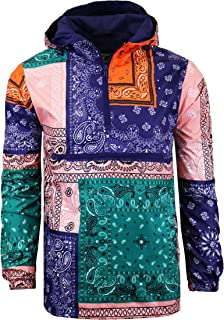 Screenshotbrand Lightweight Hooded Water Resistant Windbreaker - Zip-up Fashion Map Print Rain Jacket