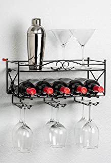 Best wall mounted wine rack with shelf Reviews