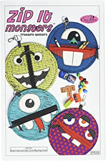 Eazy Peazy Quilts Easy Peazy Zip It Monsters Treasure Keepers Pattern