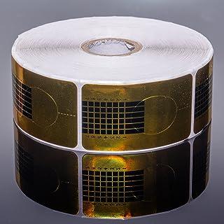 100plantillas de oro uñas plantilla Plantillas de modelado 100pieza–oro uñas uñas gel UV y acrílico