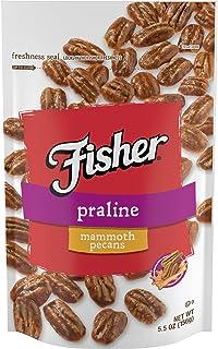FISHER Snack Praline Mammoth Pecans, 5.5 oz, Gluten Free
