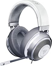 Razer Kraken Mercury White ゲーミングヘッドセット 3.5mm 冷却パッド PS4 PC Switch スマホ【日本正規代理店保証品】 RZ04-02830400-R3M1