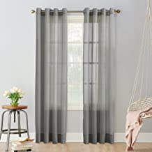 (charcoal, 59x63) - No. 918 Emily Sheer Voile Grommet Curtain Panel