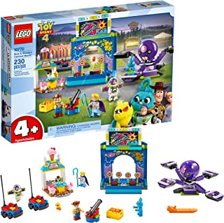 LEGO Disney Pixar's Toy Story 4 Buzz Lightyear & Woody's Carnival Mania 10770 Building Kit, Carnival Playset with Shooting Game & Toy Story Characters, New 2019 (230 Pieces)