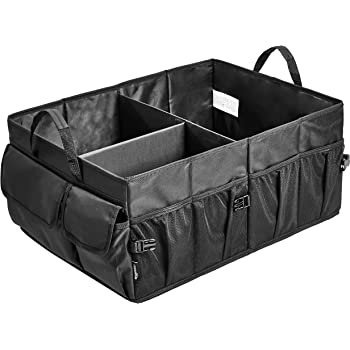 AmazonBasics Trunk Organizer with Collapsible Design for Cars, SUVs, and Trucks - Black