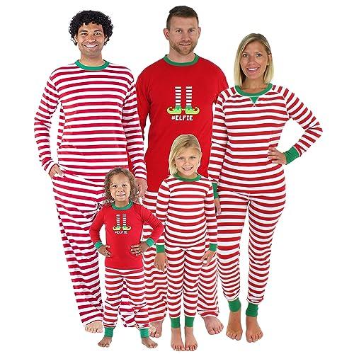 Sleepyheads Christmas Family Matching Red Striped Elf Pajama PJ Sets 86859954b